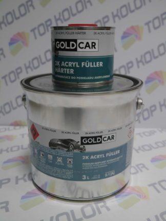 GoldCar Podkład Acryl Fuller wypełniający 2K 2,5l + utw 0,5L szary