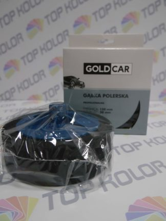 GoldCar Gąbka polerska gwint M14 czarna 150/50