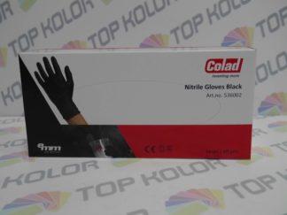 Emm Colad Rękawiczki nitrylowe czarne op 60szt L, XL