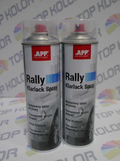 APP Rally Lakier akrylowy bezbarwny spray 600ml