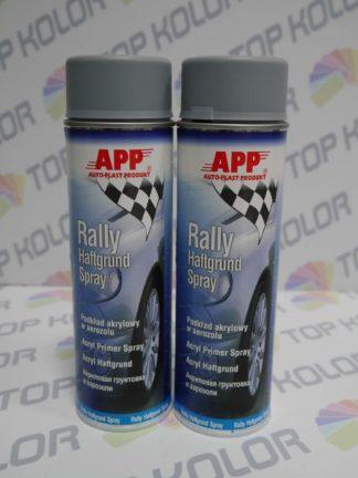 APP Rally Lakier akrylowy podkład spray 600ml szary