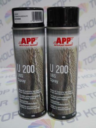 APP U200 Preparat do ochrony karoserii Baranek spray 500ml czarny