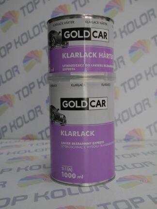 GoldCar Lakier bezbarwny Express 1L + 0,5L utw