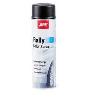 APP Rally Lakier akrylowy czarny mat 600ml